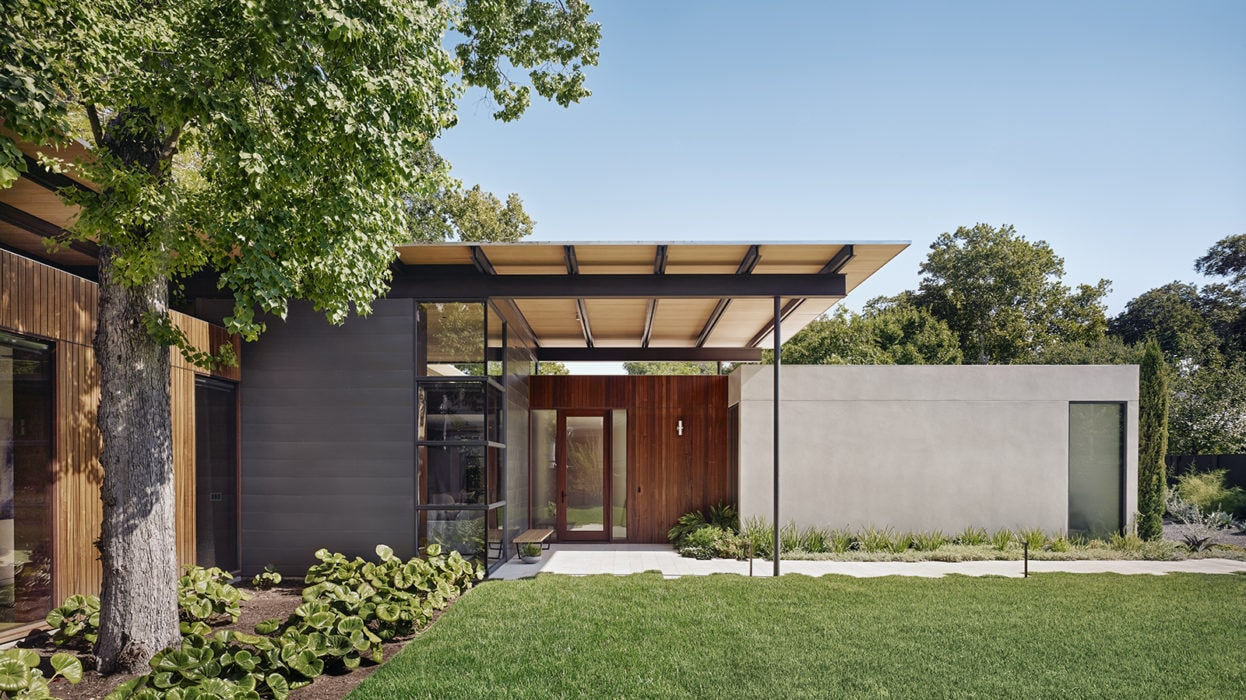 This Allandale Home Features A Floating Canopy Roof Austin Monthly Magazine