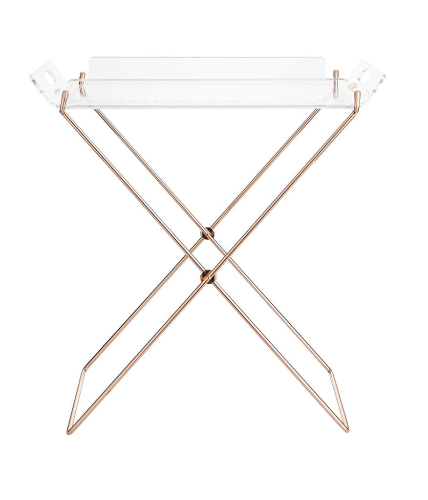 Acrylic Tray Table. CB2, $79.95