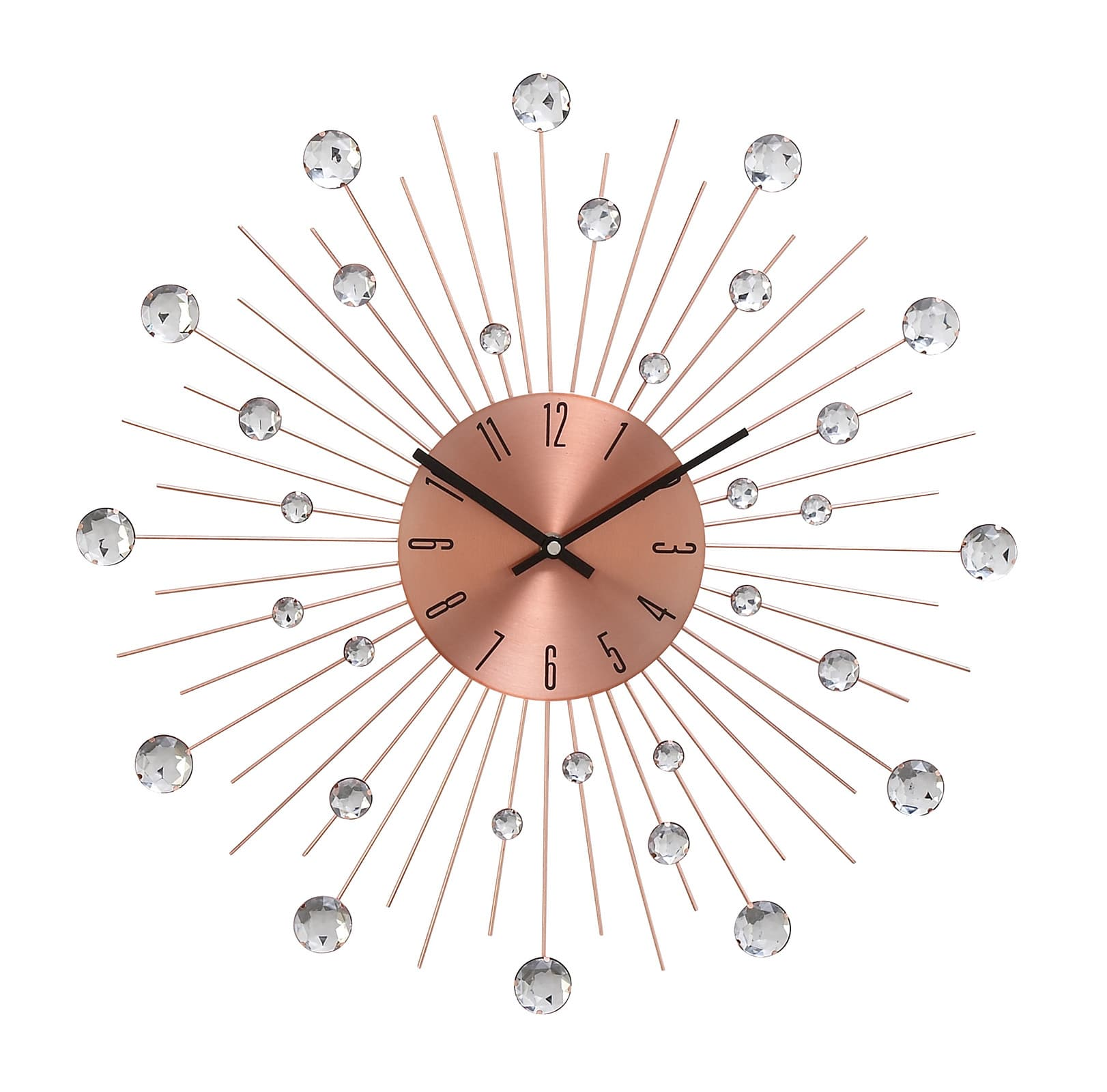 20-Inch Acrylic Metallic Brown Wall Clock. Living Spaces, $39