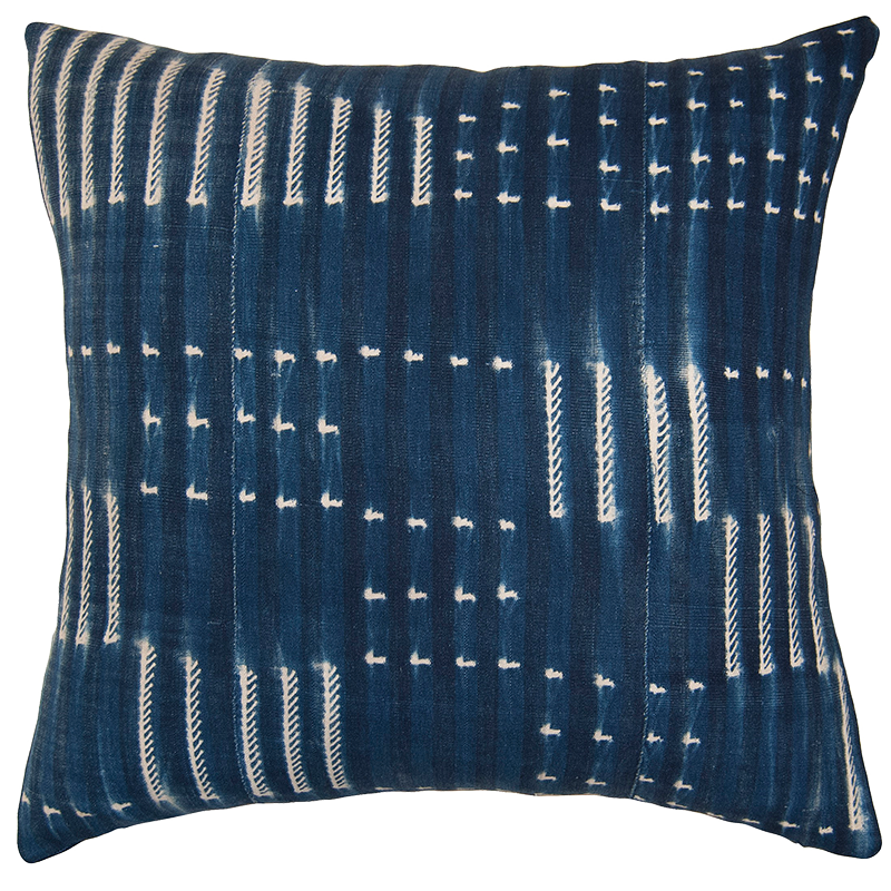 Indigo Flags. Square Feathers, $262.50