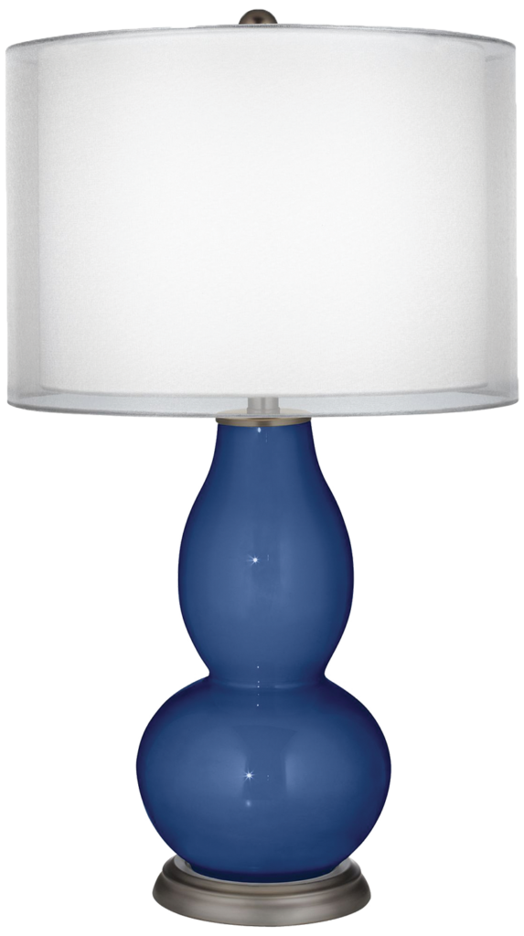 Monaco Blue Sheer Double Shade Double Gourd Table Lamp. Lamps Plus, $159.98