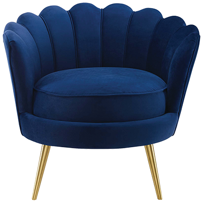 Mercer 41 Demers Barrel Chair in Navy. Wayfair, $416.75