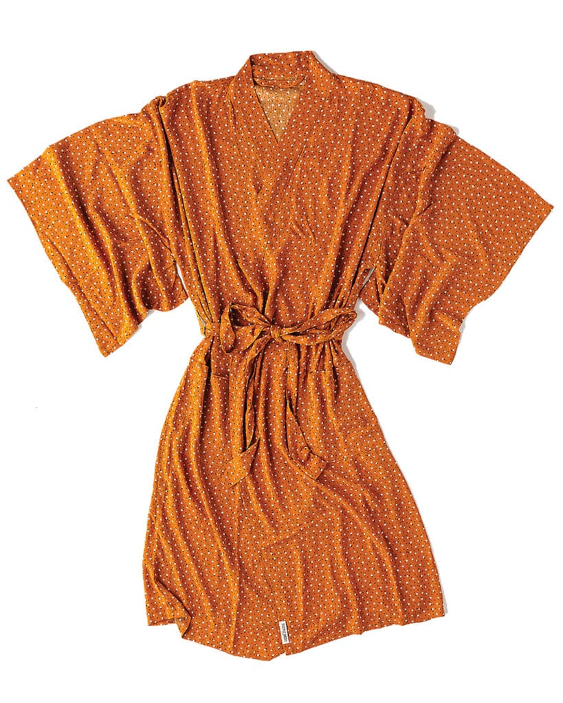 Lounge around in a bright kimono-style robe. Highway Robery Power Flower Robe ($88) at highway-robery.com