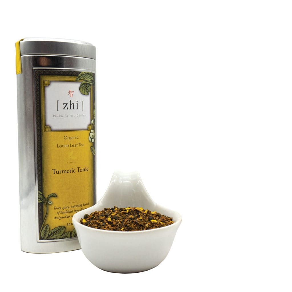 The perfect antidote to a chilly day. Zhi Tea Turmeric Tonic ($23.95) at zhitea.com